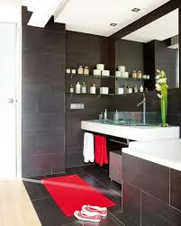 Red And Black Bathroom Accessories by Magnificent Red And Black Bathroom Accessories For Rectangular
