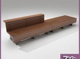 Model Bench 3d Model Bench Teak Cgtrader