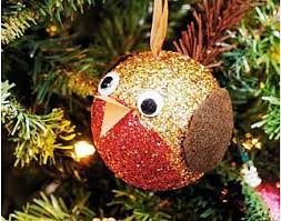 how to make a glittery robin bauble who wouldn u0027t want one of