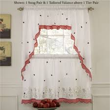 Window Valance Patterns by Kitchen Curtains Tiers And Valance Window Treatments Touch Of Class