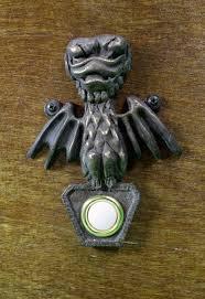 disney haunted mansion bat inspired doorbell plate from