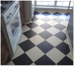 kitchen floor black white checkered pattern kitchen vinyl