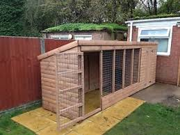 wooden dog kennel and run ebay
