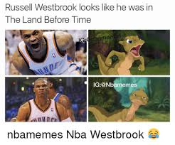 Land Before Time Meme - russell westbrook looks like he was in the land before time g