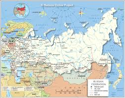 russia map political map of the russian federation nations project