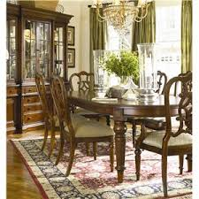 Thomasville Fredericksburg Oval Dining Table With Two  Leaves - Thomasville dining room chairs