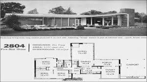 Vintage Floor Plans Mid Century Modern House Plans 1960s Vintage Hahnow