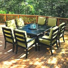 Square Patio Tables Square Garden Table Modern Black 4 Extending Metal