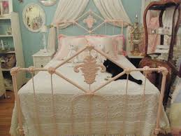 omg super fab antique wrought iron bed frame painted pink