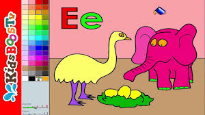 alphabet letter e color pages coloring pages for kids youtube