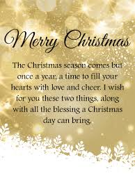 the christmas wish golden twinkling merry christmas wishes card birthday greeting