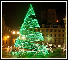 green spiral lighted tree amazing green christmas lights on tree it s beginning to look a