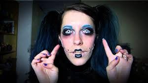 halloween makeup geo white with black rim youtube