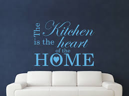 the kitchen is the heart of the home wall art sticker text 3 sizes the kitchen is the heart of the home
