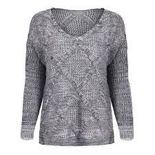 womens sweater cable knit grey sleeve v neck womens sweater twinkledeals com