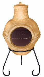 Red Clay Chiminea Clay Chimenea And Barbeque Combined In Red Green Or Yellow