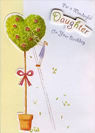 popular birthday wishes cards for daughter die cut tree with gold