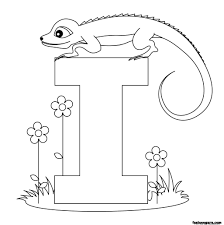 printable alphabet worksheets letter i for iguana for kidsfree