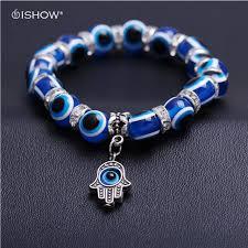 charm bracelet with evil eye images Pulseras mujer blue fatima hand evil eye bracelet femme charm jpg