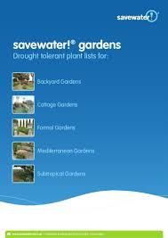 save water gardens drought tolerant plant lists australia