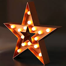 battery operated star lights amazon com bright zeal 13 large led star marquee sign bronze 6hr
