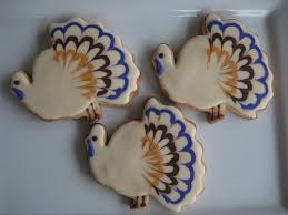white thanksgiving turkey cookies thanksgiving