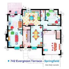 simpsons house floor plan fancy the simpsons house floor plan print