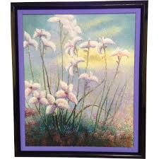 Shabby Chic Paintings by S Thomas Acrylic Painting Pointallism Wild Flower Shabby Chic
