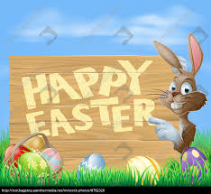easter bunny happy easter sign royalty free photo 8762320