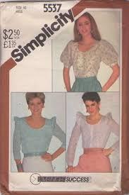 misses yoked blouse pattern simplicity 6237 size 10 uncut