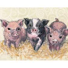 oopsy daisy piglets canvas wall art 18x14 jennifer