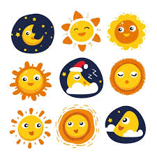 sun and moon designs collection vector free