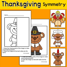 thanksgiving math symmetry differentiated activity great for math