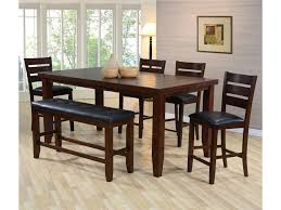 dining room with bench crown mark bardstown pub table set with bench del sol furniture