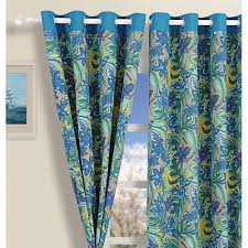 Peacock Curtains Blue Floral Curtains Home Design Ideas And Pictures