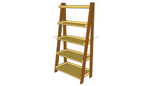 Leaning Bookcase Woodworking Plans by Ladder Shelves Plans Diy Pinterest Woodworking