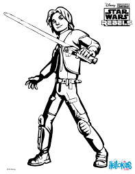ezra coloring page from star wars rebels tv series more star wars