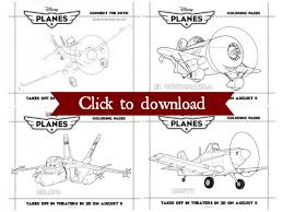 disney planes coloring pages kids free download