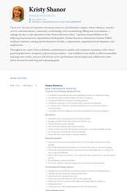 resume and cv samples human resources resume samples visualcv resume samples database