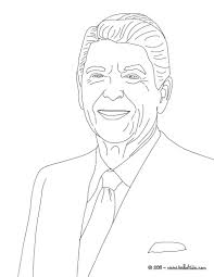 president ronald reagan coloring page cc cycle 2 week 21
