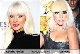 Christina Aguilera Meme - christina aguilera totally looks like lady gaga memebase funny memes