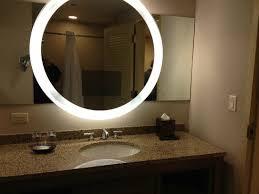mirror in the bathroom with tv inside picture of hyatt