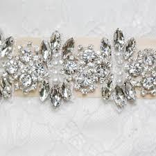 Wedding Sashes Topqueen S13 Pure Handmade Designer Wedding Belt Crystal
