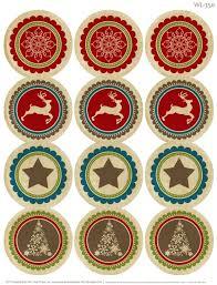 rustic christmas printable label worldlabel blog