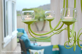 Outdoor Led Chandelier Diy Outdoor Chandelier How To Make A Candle Chandelier