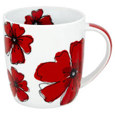 mug flower design red craft ideas pinterest flower designs