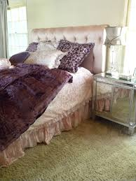 cool comforter sets with adorable purple velvet and sparkling
