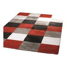 Red White And Black Rug Black Red And Grey Rugs Rug Designs