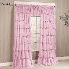 light pink ruffle curtains curtain curtain light pink ruffle curtains gypsy sheer voile