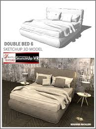 sketchup texture sketchup 3d model double bed 6